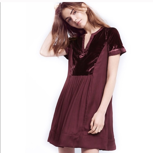 fed7f02c0eff6 Anthropologie Dresses   Maeve Velvet Dress   Poshmark